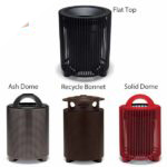 "Elegance - ""E"" Style 32 Gallon Outdoor Trash Receptacle with Liner"