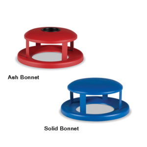 Outdoor Trash Receptacle Lid - 55 Gallon Receptacle Lid - Bonnet Lids - Classic Collection Accessory