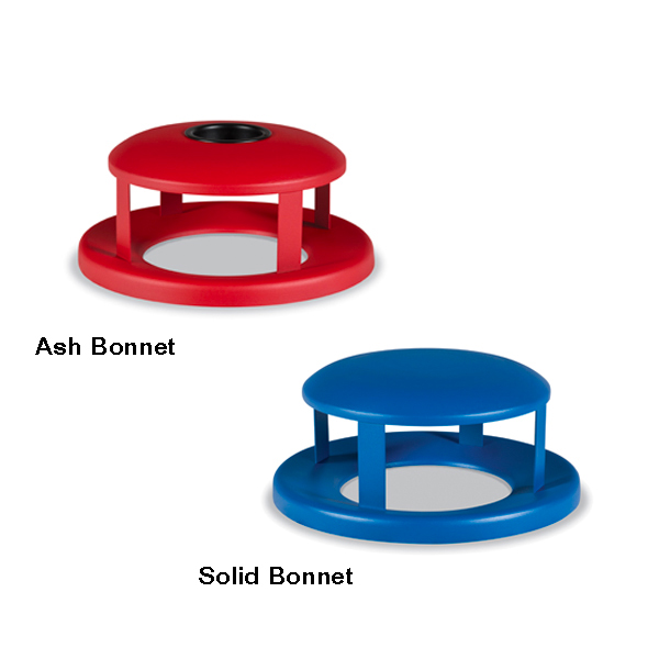 Outdoor Trash Receptacle Lid – 55 Gallon Receptacle Lid – Bonnet Lids – Classic Collection Accessory