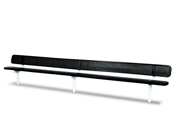 """10 foot and 15 foot Outdoor Benches with back - 10"""" Wide Seats - Signature Series"""