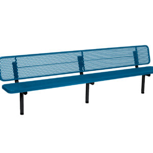 """10 foot and 15 foot Player Outdoor Benches with back - 15"""" Wide Seats - Signature Series"""