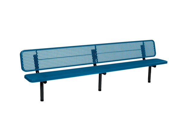 "10 foot and 15 foot Player Outdoor Benches with back - 15"" Wide Seats - Signature Series"