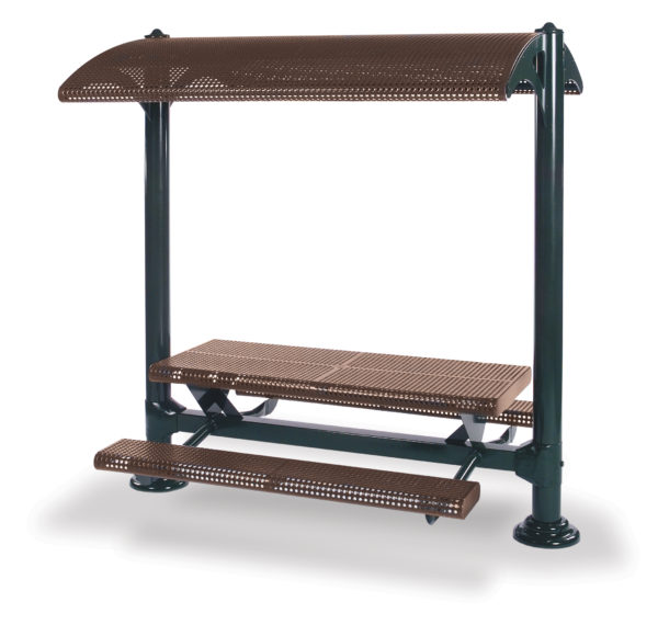 Shelter with 6 foot Table and Benches - Shadeland Series