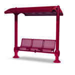 Shelter with 3-Seat Single Bench - Shadeland Series