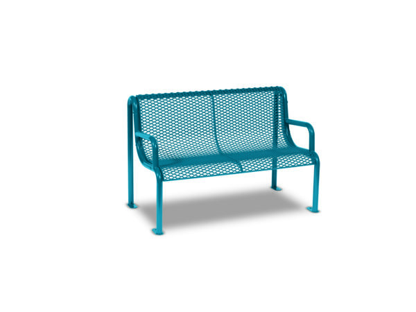 4' and 6' Outdoor Benches with Arms - Uptown Series