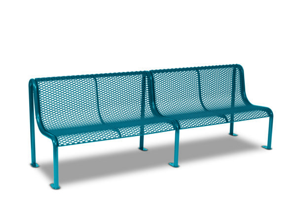 8' Outdoor Benches without Arms - Uptown Series