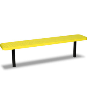 "6 foot and 8 foot Player Outdoor Benches without back - 15"" Wide Seats - Signature Series"