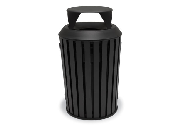 Elegance - 32 Gallon Outdoor Trash Receptacle with Liner - Woodridge Collection