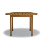Light brown round table