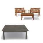 48 inch Coffee Table - Outdoor Table Only - Yorktown Collection - Portable/Surface Mount