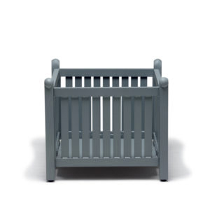 Gray outdoor wooden planter box