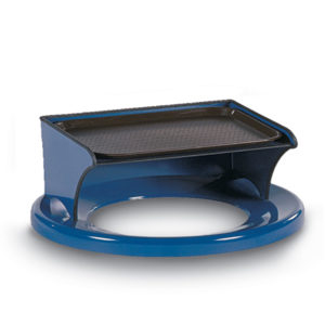 Outdoor Trash Receptacle Lid - 22 or 32 Gallon Receptacle Lid - Flat Top with Tray Bonnet - Classic Collection Accessory