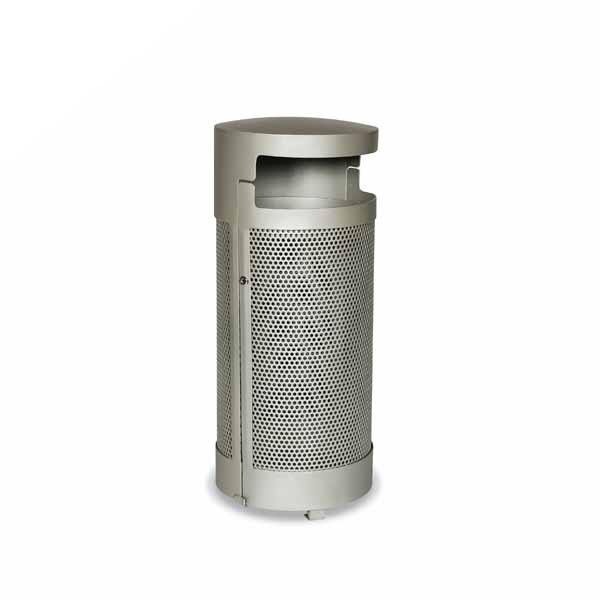 "Elegance – ""M"" Style Outdoor Trash Receptacle with Side Door – Portable/Surface mount"