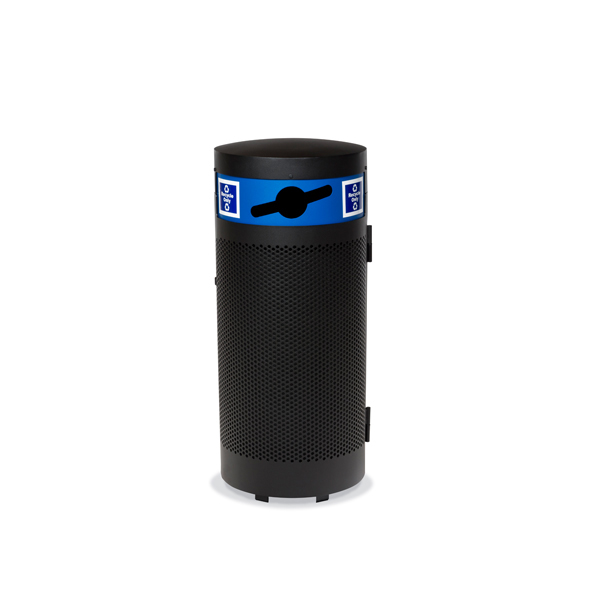 """Elegance – """"M"""" Style Outdoor Trash Receptacle – Recycle Unit Option – with Side Door – Portable/Surface mount"""