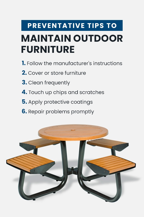 Preventative tips to maintain outdoor furniture