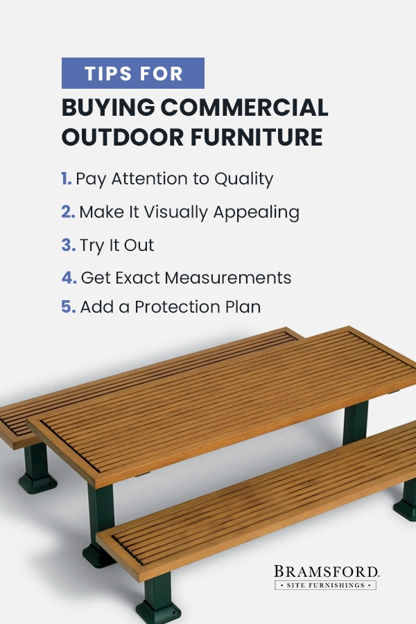 Tips for buying commercial outdoor furniture